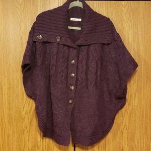 Purple Button down sweater